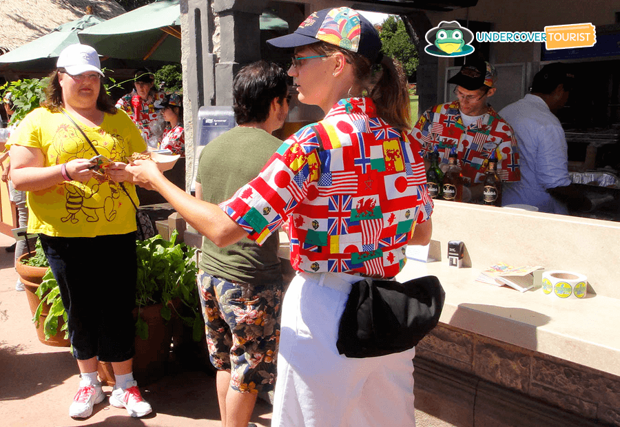 Cast Member durante el Epcot International food & Wine.