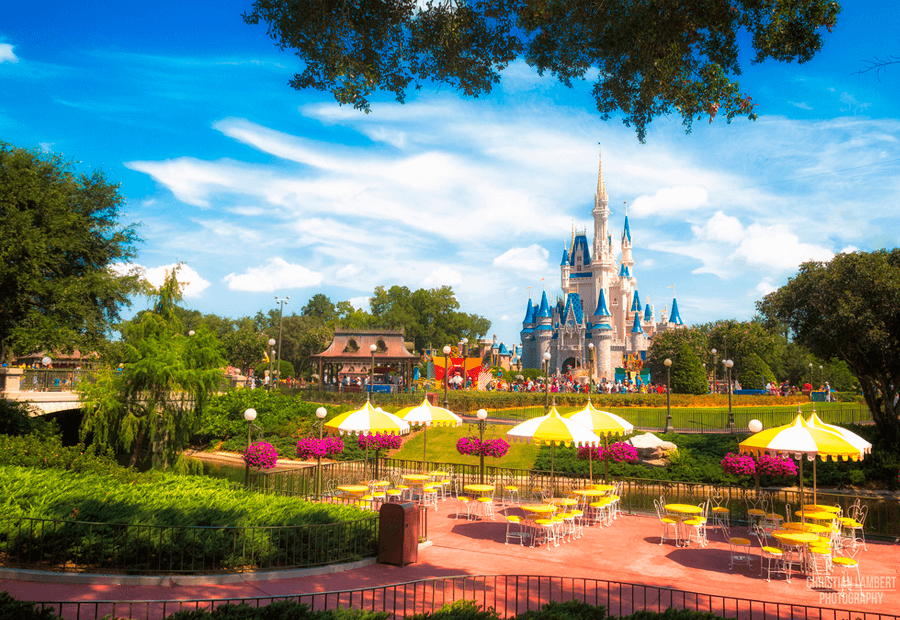 Preciosa imagen de Magic Kingdom en Orlando,Florida