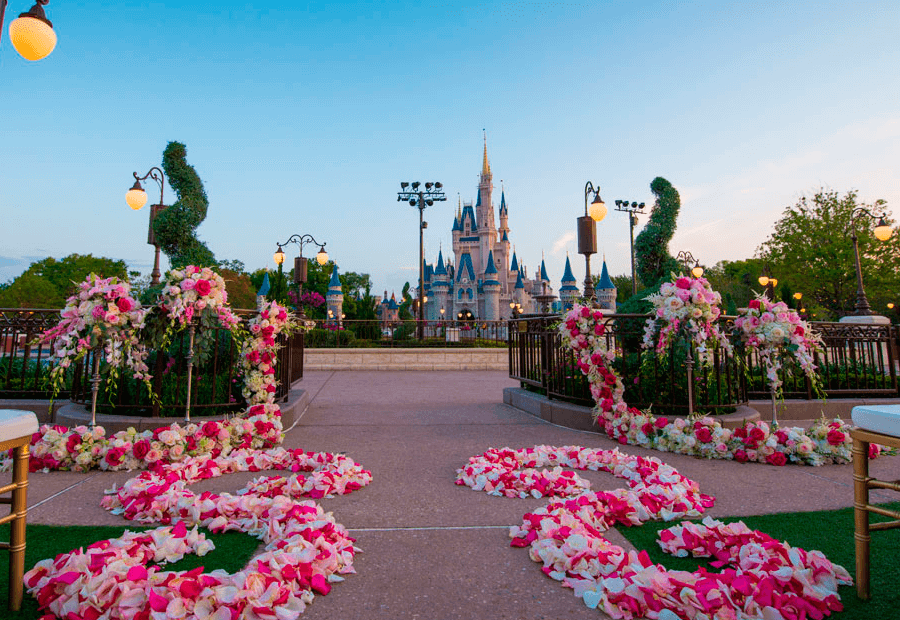 Espectacular decoración para celebrar bodas en Magic Kingdom Orlando