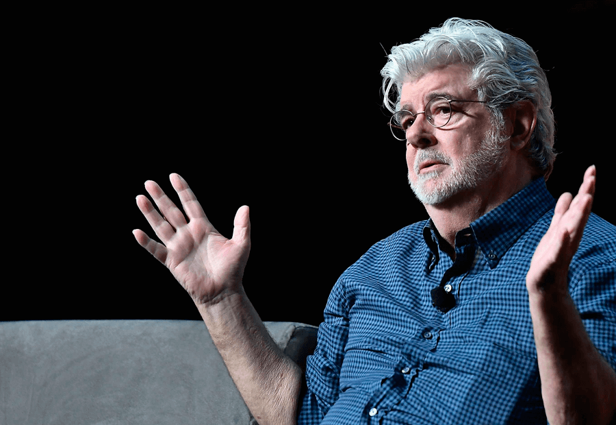 George Lucas exponiendo en la Star Wars Celebration 2017